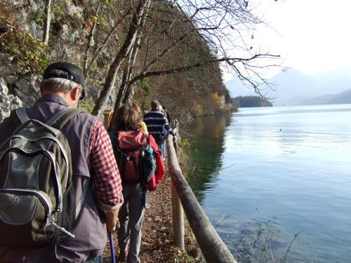 Foto: hofchri / Wander Tour / Von St.Gilgen nach St.Wolfgang auf dem Wallfahrerweg über den Falkenstein, 750m / der Wanderweg am Seeufer nach Fürberg / 23.11.2009 19:59:46