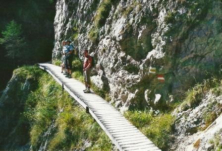 Foto: Wolfgang Dröthandl / Wander Tour / Ötschergräben - Grand Canyon Niederösterreichs / Manche Wegabschnitte sind in letzter Zeit seilversichert worden / 09.11.2011 17:50:48