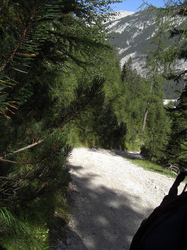 Foto: Charly Weigarten / Wander Tour / Hallerangeralm (Isar-Quelle) / Weg zum Hallerangerhaus, bzw. zur Hallerangerhütte, wir haben es mit dem Bike erklommen, mit langer Schiebestrecke / 22.08.2009 09:06:37