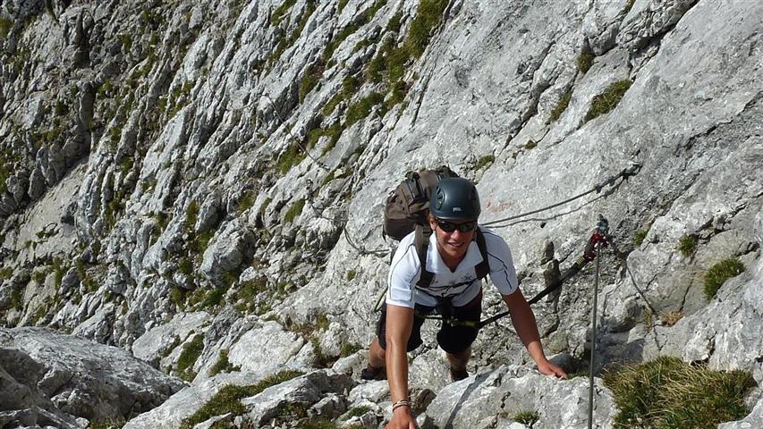 Foto: Karl Littke / Wander Tour / Hoher Göll (Purtscheller Haus - Stahlhaus) / leichter Klettersteig / 17.08.2011 11:15:02