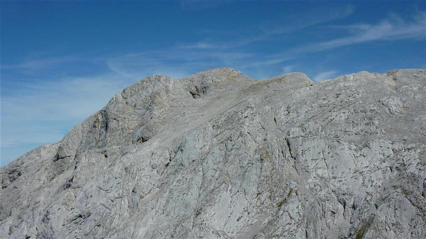 Foto: Karl Littke / Wander Tour / Hoher Göll (Purtscheller Haus - Stahlhaus) / Blick auf den Gipfel von der Göllscharte / 17.08.2011 11:17:59
