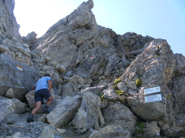 Foto: Wolfgang Lauschensky / Wander Tour / Neukarsee und Faulkogel / Einstieg in den Nordgrat / 05.08.2012 22:20:14