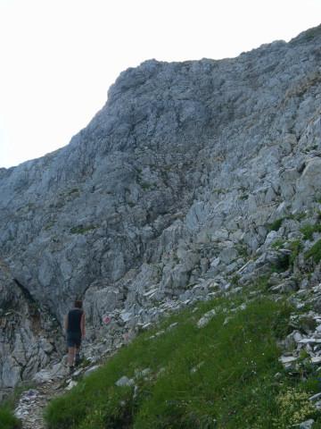 Foto: Wolfgang Lauschensky / Wander Tour / Blauer See und Ennskraxen / in der Nordflanke / 22.07.2011 17:54:17