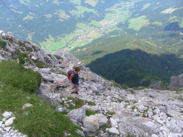 Foto: Wolfgang Lauschensky / Wander Tour / Blauer See und Ennskraxen / Gipfelblick nach Kleinarl / 22.07.2011 17:53:10