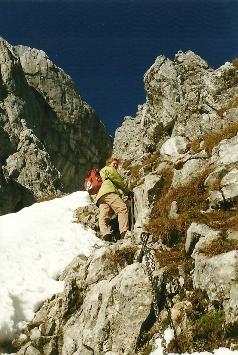 Foto: Wolfgang Dröthandl / Wander Tour / Hochschwabrunde übers G´hackte / An der Felsrippe aufwärts - das 'G'hackte' / 16.05.2011 15:22:51