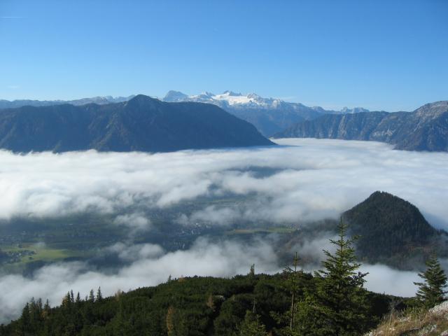 Foto: pepi4813 / Wander Tour / Von Altaussee auf die Trisselwand / Blick vom Trisselkogel zum Dachstein / 18.07.2009 18:06:28