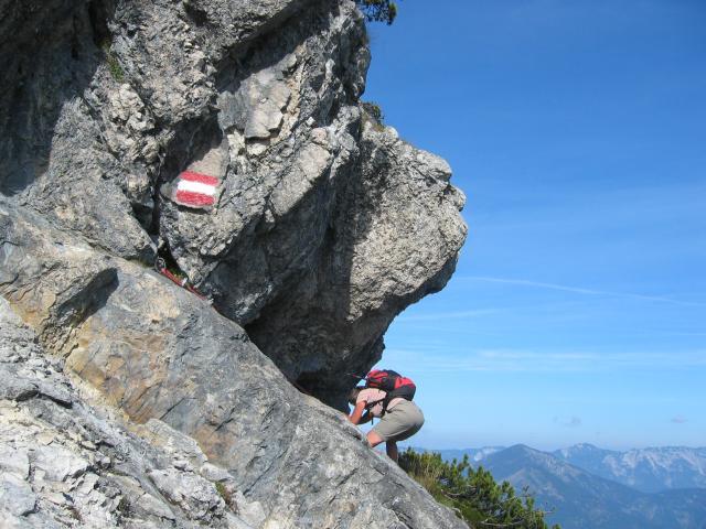 Foto: pepi4813 / Wander Tour / Rettenkogel & Bergwerkskogel / Kraxelei über eine ausgesetzte schräge Platte / 27.09.2009 22:18:55