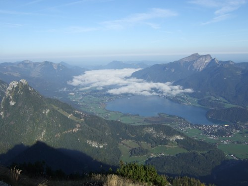 Foto: hofchri / Wander Tour / Rettenkogel & Bergwerkskogel / Blick zum Wolfgangsee / 12.10.2009 19:47:22