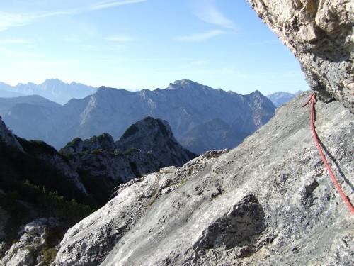 Foto: hofchri / Wander Tour / Rettenkogel & Bergwerkskogel / leichtere A/B-Stellen am Gratübergang / 12.10.2009 19:49:10