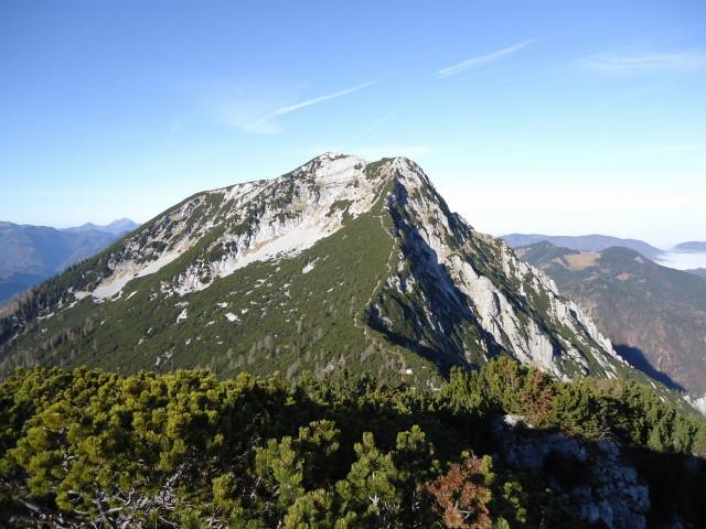 Foto: Günter Siegl / Wandertour / Überschreitung des Sengsengebirges von Windischgarsten nach Klaus / Rückblick Hochsengs / 22.11.2011 17:16:17