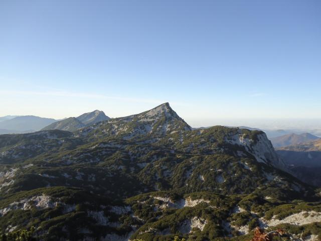 Foto: Günter Siegl / Wandertour / Überschreitung des Sengsengebirges von Windischgarsten nach Klaus / Rückblick Größtenberg, Gamskogel, Hochsengs / 22.11.2011 17:12:05