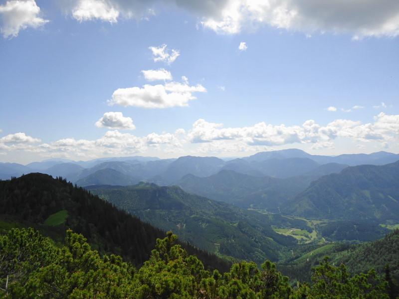 Foto: Günter Siegl / Wandertour / Zellerhüte - Rundwanderung / Tonion (Bildmitte), rechts davon Veitsch / 10.06.2014 16:58:46