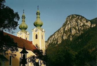 Foto: Wolfgang Dröthandl / Wander Tour / Von Radmer auf das Zeiritzkampel / Radmer an der Stube, Kirche zum Hl. Antonius / 08.04.2011 10:29:46
