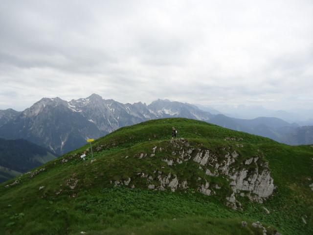 Foto: Günter Siegl / Wander Tour / Großes Maiereck - Rundwanderung / Im Hintergrund die Haller Mauern / 01.07.2012 12:50:10