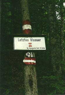 Foto: Wolfgang Dröthandl / Wander Tour / Großes Maiereck - Rundwanderung / Klingt nicht sehr aufbauend... (Ende Spitzenbachklamm); alle Fotos vom 29. 5. 2003 / 06.04.2011 16:22:43