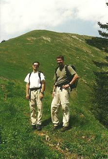 Foto: Wolfgang Dröthandl / Wander Tour / Großes Maiereck - Rundwanderung / Abstieg vom Maiereck: Blick zurück auf die steile Kälberleiten / 06.04.2011 16:13:46