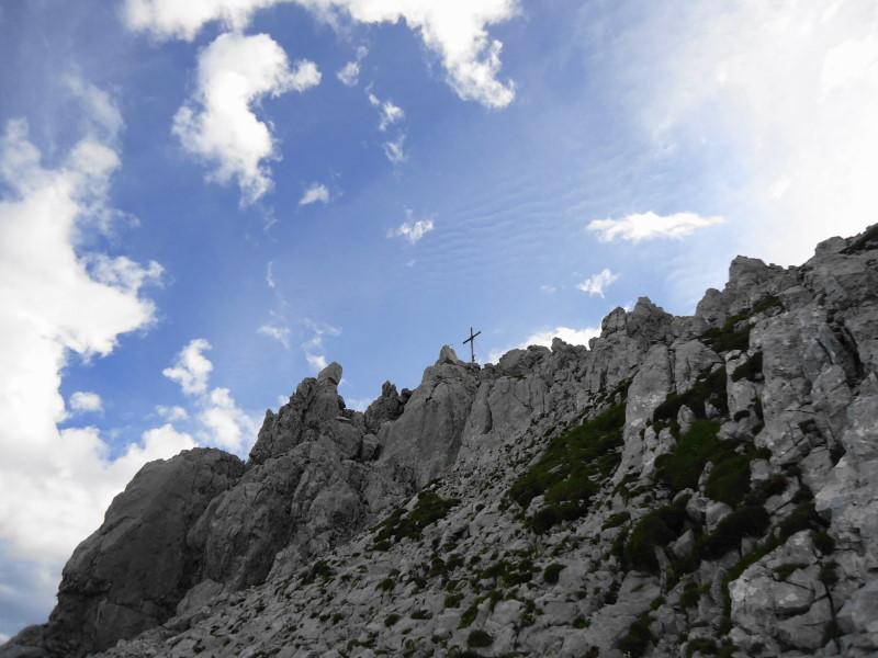 Foto: Günter Siegl / Wander Tour / Durch die Steinerne Rinne zur Vorderen und Hinteren Goinger Halt / Gipfelaufbau Hintere Goinger Halt / 12.08.2016 12:27:10
