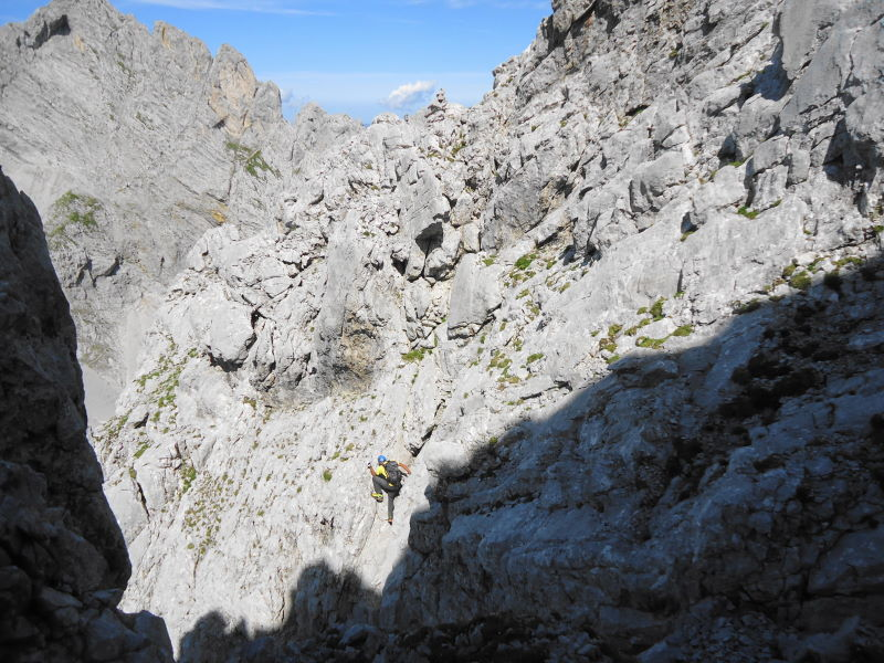 Foto: Günter Siegl / Wander Tour / Durch die Steinerne Rinne zur Vorderen und Hinteren Goinger Halt / Einige IIer Stellen / 12.08.2016 12:13:51