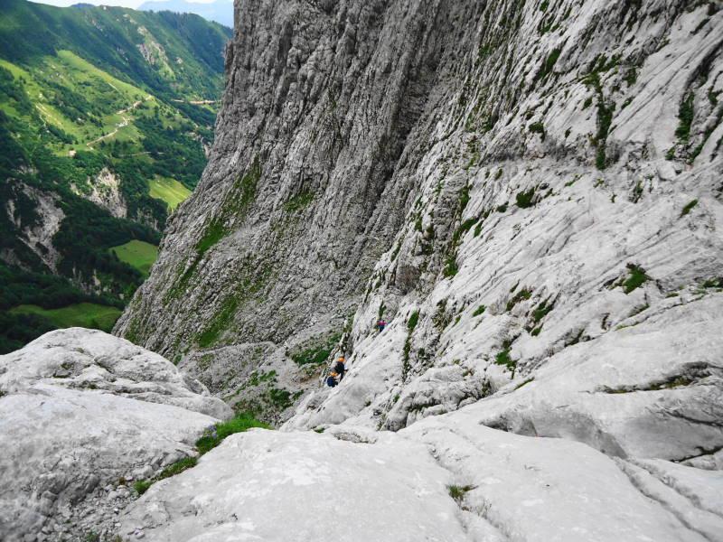 Foto: Günter Siegl / Wander Tour / Durch die Steinerne Rinne zur Vorderen und Hinteren Goinger Halt / Leichter Klettersteig. / 12.08.2016 12:29:18