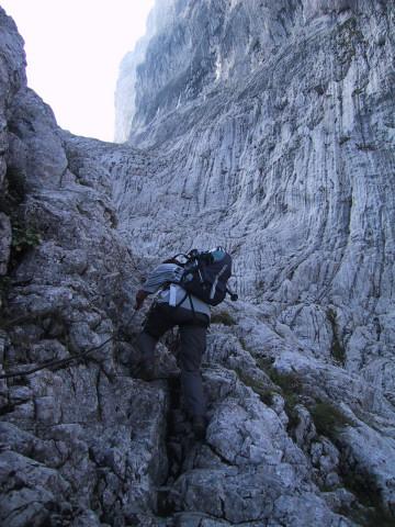 Foto: Wolfgang Lauschensky / Wander Tour / Durch die Steinerne Rinne zur Vorderen und Hinteren Goinger Halt / in der Steinernen Rinne / 07.10.2012 16:24:17