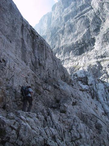Foto: Wolfgang Lauschensky / Wander Tour / Durch die Steinerne Rinne zur Vorderen und Hinteren Goinger Halt / Querung zum Ellmauer Tor / 07.10.2012 16:23:44