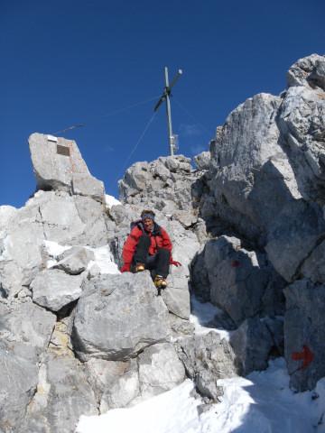 Foto: Wolfgang Lauschensky / Wander Tour / Durch die Steinerne Rinne zur Vorderen und Hinteren Goinger Halt / Gipfelfelsabstieg / 07.10.2012 16:22:15