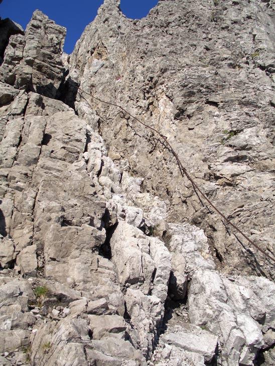 Foto: vince 51 / Wander Tour / Über die Latschenhütte auf die Vordere Platteinspitze / der letzte Kamin vor dem Gipfel / 31.07.2009 23:23:02