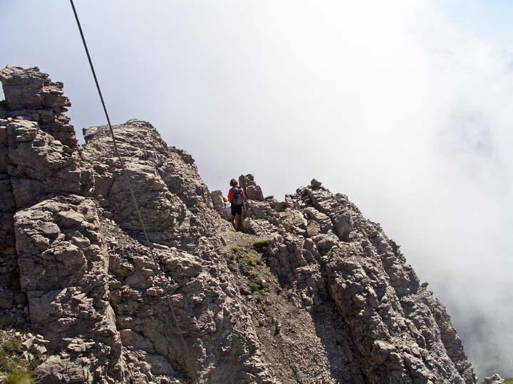 Foto: vince 51 / Wander Tour / Über die Latschenhütte auf die Vordere Platteinspitze / oberes Ende des Gipfelkamins / 31.07.2009 23:20:52