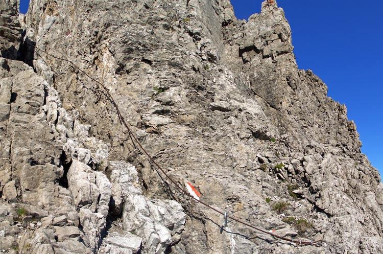 Foto: vince 51 / Wander Tour / Über die Latschenhütte auf die Vordere Platteinspitze / der letzte Kamin vor dem Gipfel / 31.07.2009 23:22:39