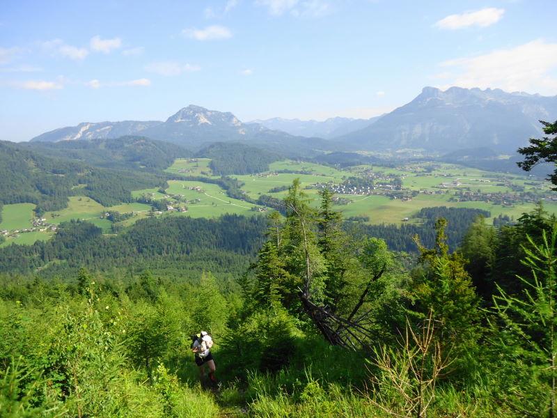 Foto: Günter Siegl / Wander Tour / Zinkenkogel-Runde / Sandling links, Loser rechts / 05.07.2014 15:35:09