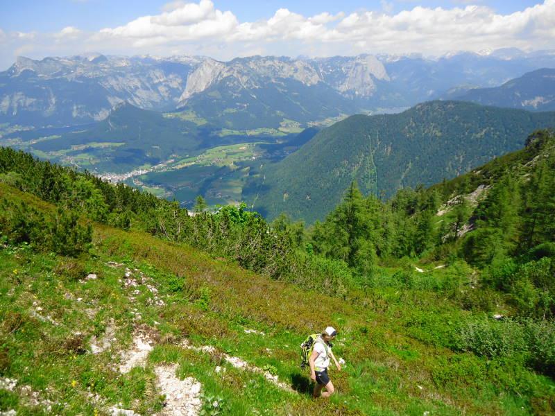 Foto: Günter Siegl / Wander Tour / Zinkenkogel-Runde / Blick zum Toten Gebirge / 05.07.2014 15:31:11