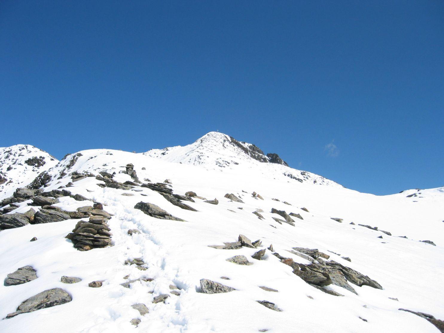 Foto: Gernot Huber / Wander Tour / Petzeck - höchster Gipfel der Schobergruppe (3283 m) / Gipfelanstieg / 11.12.2010 19:02:35