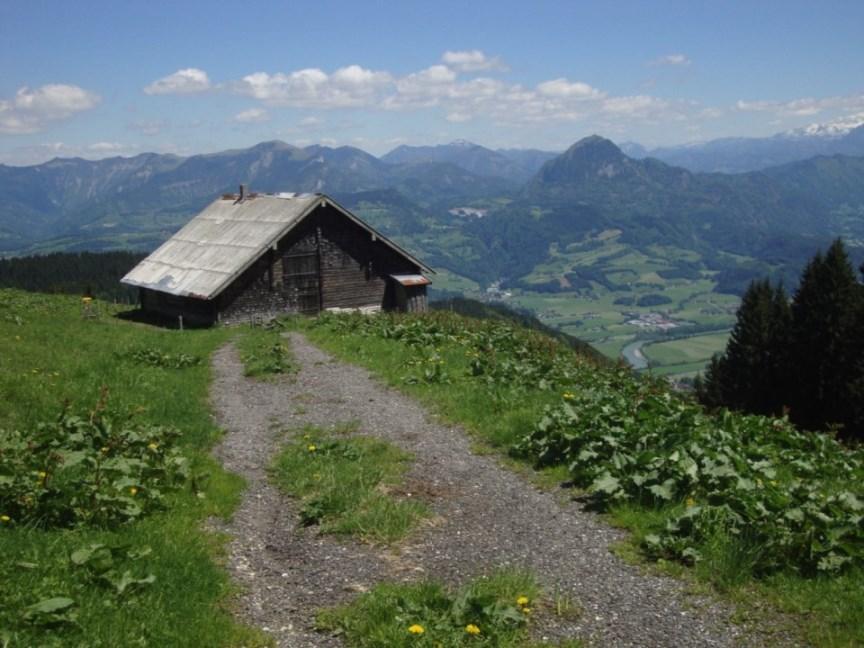 Foto: Wolfgang Dröthandl / Wander Tour / Von Gasteig zum Purtschellerhaus / Dürrfeichtenalm gegen Osterhorngruppe / 07.06.2017 13:09:49
