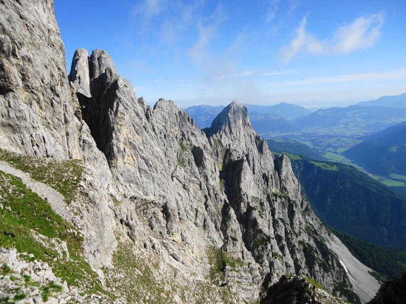 Foto: Günter Siegl / Wander Tour / Durch das Kleine Griesener Kar auf das Lärchegg  / Rechts Lärchegg (Aufnahme von der Maukspitze) / 22.08.2016 20:49:24