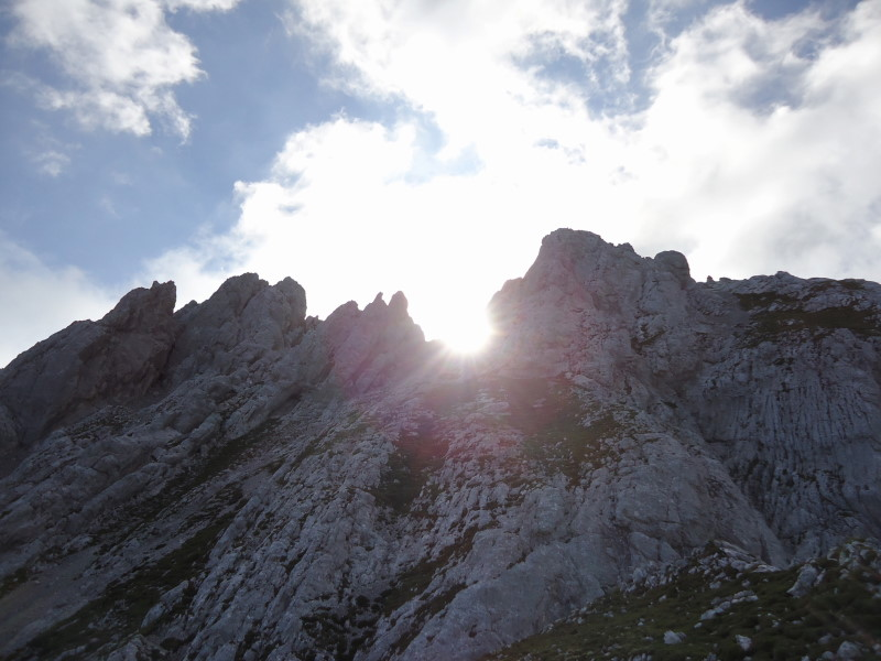 Foto: Günter Siegl / Wander Tour / Durch das Kleine Griesener Kar auf das Lärchegg  / Gipfelaufbau / 22.08.2016 20:44:15