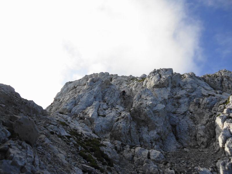 Foto: Günter Siegl / Wander Tour / Durch das Kleine Griesener Kar auf das Lärchegg  / Gipfelfelsen / 22.08.2016 20:42:33