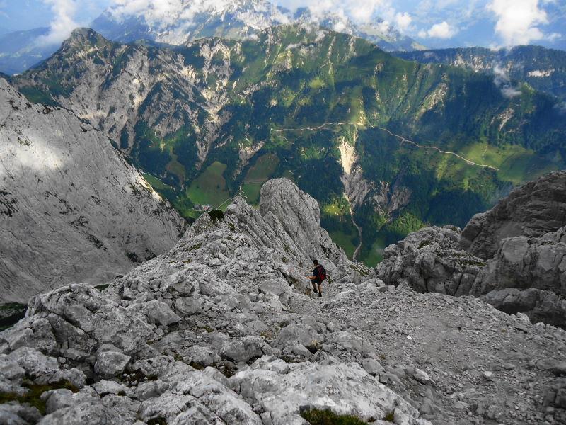 Foto: Günter Siegl / Wander Tour / Durch das Kleine Griesener Kar auf das Lärchegg  / Abstieg / 22.08.2016 20:40:17