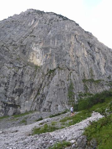 Foto: Wolfgang Lauschensky / Wander Tour / Durch das Kleine Griesener Kar auf das Lärchegg  / Schotteranstieg unter der Westflanke des Lärcheggs / 31.07.2012 22:04:32