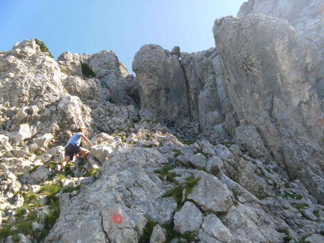 Foto: Wolfgang Lauschensky / Wander Tour / Durch das Kleine Griesener Kar auf das Lärchegg  / Schrofenkraxlerei zur Nordscharte / 31.07.2012 22:03:27
