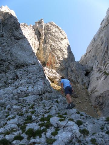 Foto: Wolfgang Lauschensky / Wander Tour / Durch das Kleine Griesener Kar auf das Lärchegg  / vor der Schlüsselstelle / 31.07.2012 22:03:10