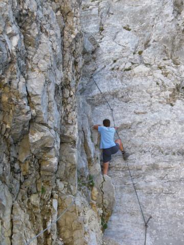 Foto: Wolfgang Lauschensky / Wander Tour / Durch das Kleine Griesener Kar auf das Lärchegg  / gesicherte glatte Platte / 31.07.2012 22:02:32