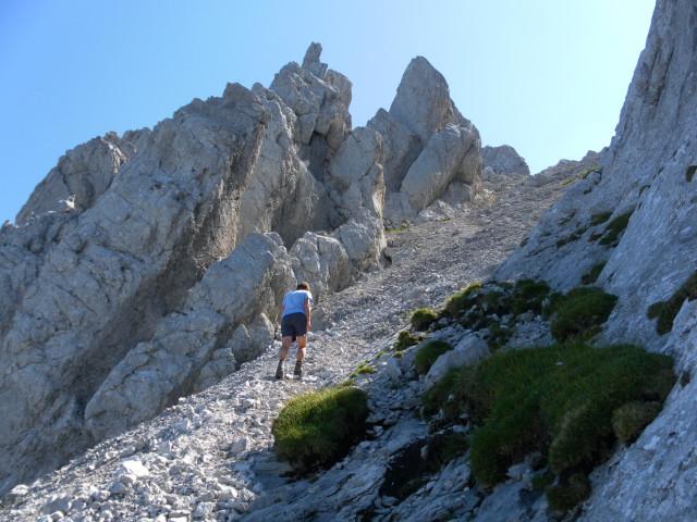 Foto: Wolfgang Lauschensky / Wander Tour / Durch das Kleine Griesener Kar auf das Lärchegg  / Gipfelschuttrinne / 31.07.2012 22:00:17