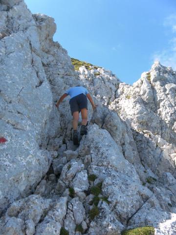 Foto: Wolfgang Lauschensky / Wander Tour / Durch das Kleine Griesener Kar auf das Lärchegg  / am Gipfelblock / 31.07.2012 22:00:02