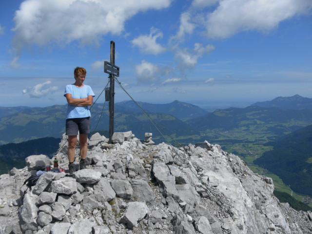 Foto: Wolfgang Lauschensky / Wander Tour / Durch das Kleine Griesener Kar auf das Lärchegg  / Blick vom Lärchegg zum Chiemsee / 31.07.2012 21:57:29