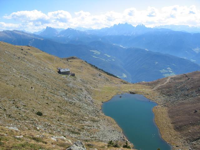 Foto: pepi4813 / Wander Tour / Radlseehütte bei Brixen / Radlsee mit Radlseehütte / 11.07.2009 22:23:26