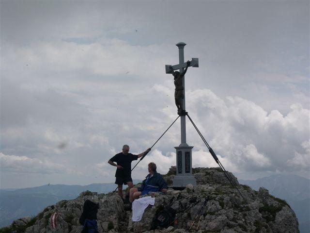Foto: Tourismusverein Göstling Alpen / Wander Tour / Hochkar - Dürrenstein / Gipfelkreuz am Dürrenstein / 22.10.2008 16:31:02