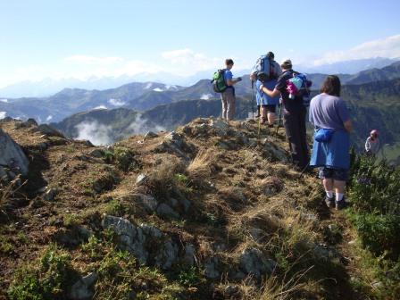 Foto: Wolfgang Dröthandl / Wander Tour / Wildseeloder und Henne / Henne Gipfelgrat / 17.08.2015 15:08:30