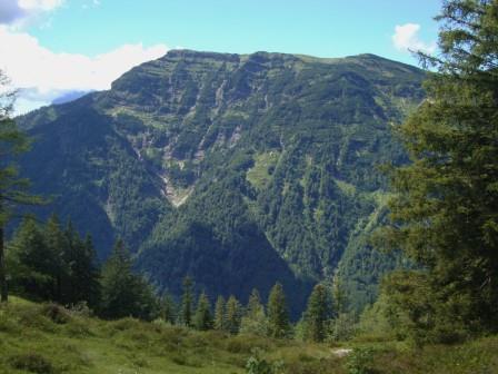 Foto: Wolfgang Dröthandl / Wander Tour / Von der Waidringer Steinplatte auf das Fellhorn / Blick zum wuchtigen Fellhorn von Osten  / 23.08.2016 13:08:22