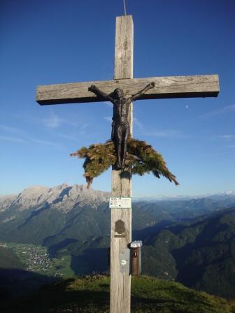 Foto: Wolfgang Dröthandl / Wander Tour / Von der Waidringer Steinplatte auf das Fellhorn / Fellhorn - Gipfel gegen Loferer Steinberge, im Tal Waidring / 23.08.2016 13:14:15