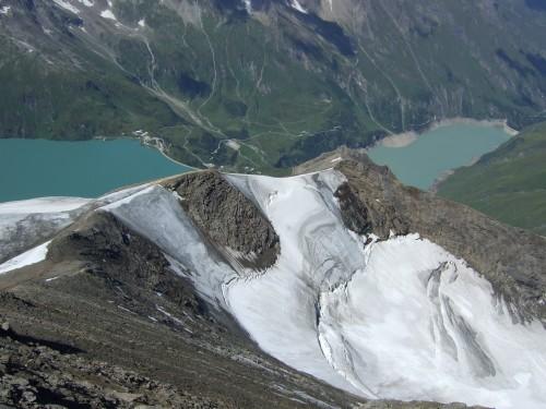 Foto: hofchri / Wander Tour / Vom Mooserboden auf das Große Wiesbachhorn (3564 m) / Blick auf den Kaindlgrat / 30.09.2009 20:35:50